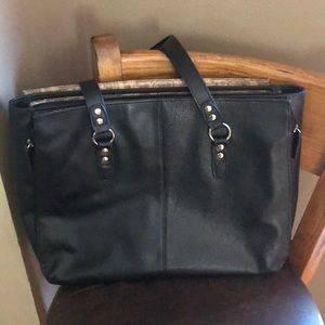 Samsonite® | Leather Triple Gusset Computer Tote